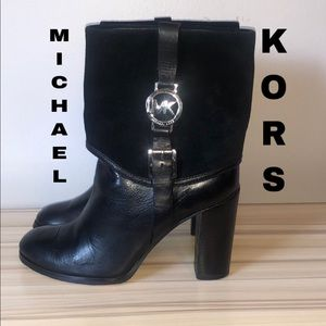 Michael Kors Leather Midshaft Boots